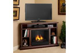 Modern Corner Tv Stands For Flat Screens Furniture Dark Painted Pine Wood Corner Media Stand With Electric