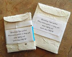 seed paper favors flower packets for wedding favors inspirational seed