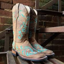 womens square toe boots size 12 corral circle g s turquoise dragonfly embroidery square