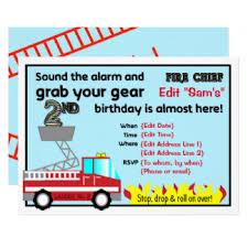 fireman birthday invitations u0026 announcements zazzle canada