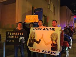Make A Meme With 2 Pictures - make anime great again make america great again know your meme