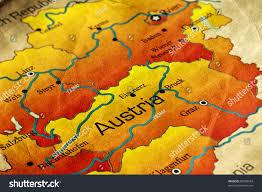 Austria World Map by Ancient World Map Austria Stock Photo 85548934 Shutterstock