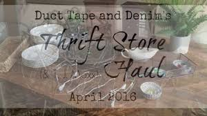 Home Decor Thrift Store Home Decor Thrift Store And Tjmaxx Haul April 2016 Youtube