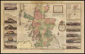 Rit Map Scotland Or North Britain Circa 1714
