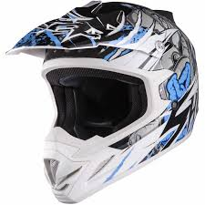 blue motocross gear shox mx 1 scream white blue motocross helmet enduro offroad mx atv