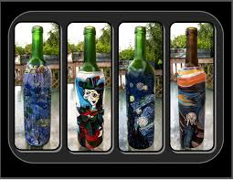 anniversary wine bottles masterpiece picasso gogh starry glass anniversary