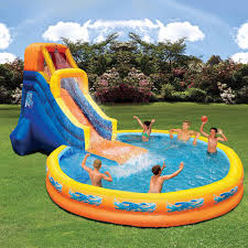 Best Backyard Water Slides Banzai Backyard Water Slide Outdoor Furniture Design And Ideas