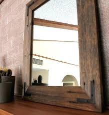 Reclaimed Wood Bathroom Mirror Rustic Mirrors For Bathrooms