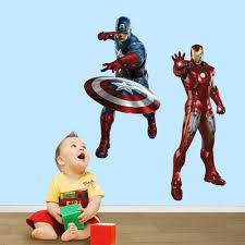 avengers iron man captain america wall stickers wall stickers avengers wall stickers