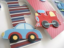custom decorated wooden letters cars trains u0026 planes theme