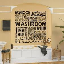 dazzling bathroom wall decor stickers with quotes on best orange