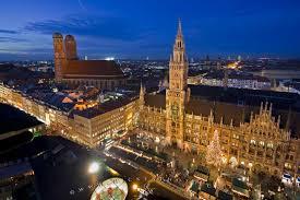 free wallpaper background aerial view munich christmas market
