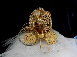 cinderella themed centerpieces cinderella gold carriage cake topper centerpiece for your