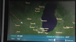 Map To Chicago by United Airlines Business Class Upper Deck 747 400 Tokyo To Chicago