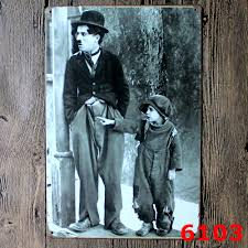 Metal Signs Home Decor Aliexpress Com Buy 18 21 Cm Charlie Chaplin Movie Metal Signs