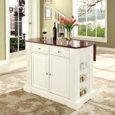 kitchen island with leaf attractive crosley kitchen cart crosley drop leaf breakfast bar top