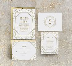 print wedding invitations modern gold wedding invitations gold foil print wedding