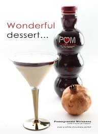 white chocolate martini pomegranate molasses how to make it and a dessert recipe to try