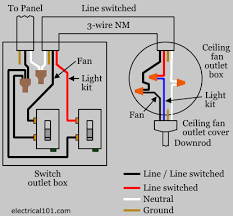 ceiling fan with light wiring diagram two switches free