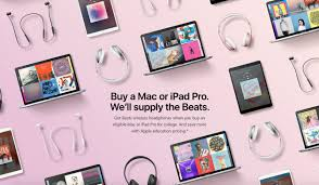 students can score beats earphones with mac and ipad purchases