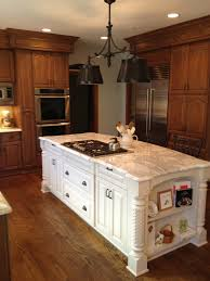 Two Tone Kitchen Cabinets Black And White Captivating Two Tone Country Kitchen Cabinets With White And Oak