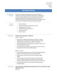 Experienced Engineer Resume Engineer Resume Sample Resume For Your Job Application