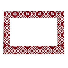 traditional baltic latvian pattern design magnetic photo frame