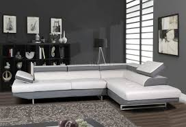 All White Living Room Set Furniture L Shaped White Leather Sectional Sofa With Black Base