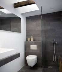 modern small bathroom design grey and white color schemes and wall
