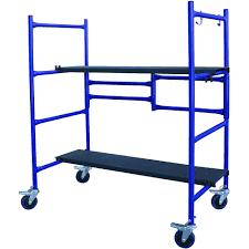 Folding Kitchen Cart by Pro Series Roll And Fold Mini Scaffold Walmart Com