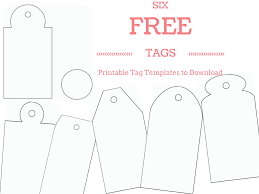6 free printable gift tag templates