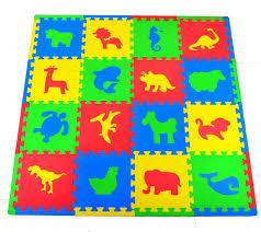 amazon com joyin toy 16 pcs kids puzzle play mat with farm