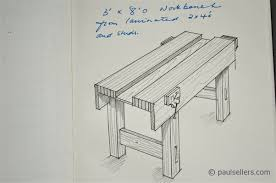 Woodworking Workbench Top Material by How To Build A Workbench U2013 Drawings And Measurments Part7 Paul