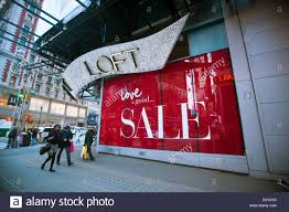 Dress Barn In Manhattan The Ann Taylor Loft Store In Times Square Advertises Its