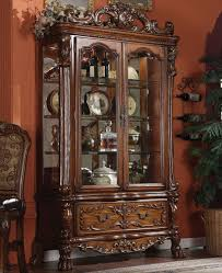 dining room curio cabinets acme furniture dresden dining curio w drawer del sol furniture