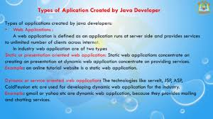 lesson 03 j2ee basics types of application created by java