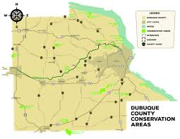 Iowa Map With Cities Heritage Trail Dubuque County