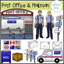 community helpers post office u0026 mailman clip art allison fors