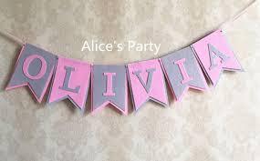 baby shower banner online shop personalized baby shower banner custom girl name