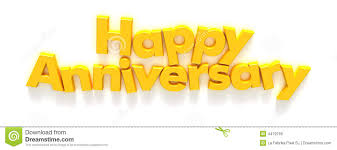happy anniversary in yellow letter magnets royalty free stock