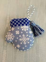 cutest snowflake mitten ornament needlepoint canvas by burnett