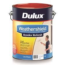 dulux 10l render refresh weathershield exterior paint bunnings