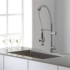 kraus kitchen faucets kraus chrome faucet single handle pull kitchen faucet