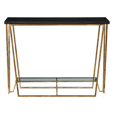 Ebay Sofa Table by Gold Metal Marble Top Angle Modern Console Table Black Shelf