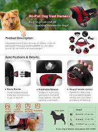 amazon com lifepul tm no pull dog vest harness dog body