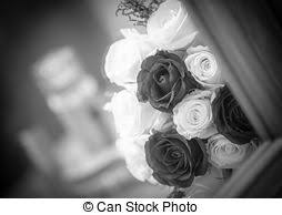 bridal bouquet holder table clip red roses wedding bouquet in glass holder on table stock photographs