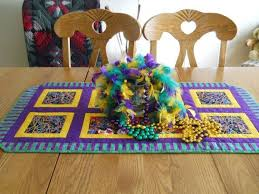 mardi gras table runner quilted mardi gras table runner ready to ship by battyquilter