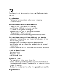 Visceral Somatic Reflex Ch 13 Lecture Outline D