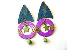 gaudy earrings large gaudy earrings plastic earrings 80s earrings