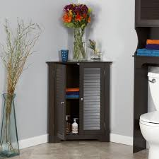 Floor Cabinet For Bathroom Amazon Com Riverridge Home Ellsworth 3 Shelf Corner Cabinet